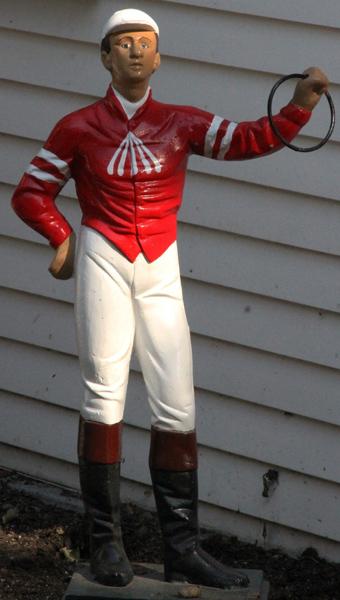 Saratoga Race Course jockey statue