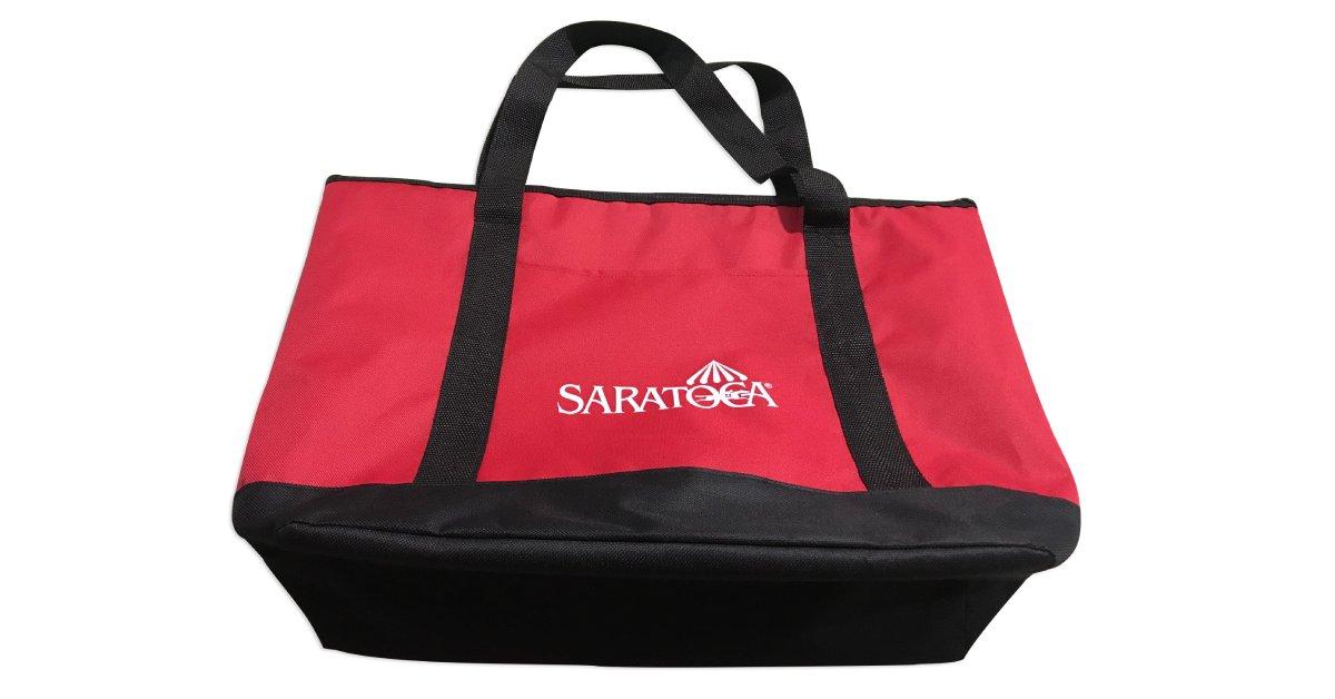 red saratoga cooler bag