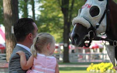 Horses up close at the Paddock at Saratoga
