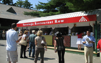 restaurant row at Saratoga Race Course
