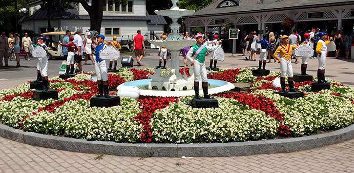 jockey statues outside track