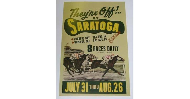 an old saratoga race course poster