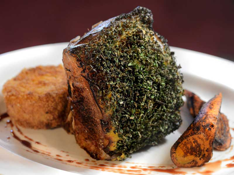 Dijon and herb-crusted Colorado Lamb Chop from The Wishing Well in Saratoga NY