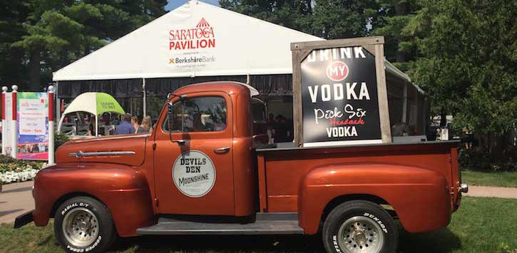 truck in front of Saratoga pavilion